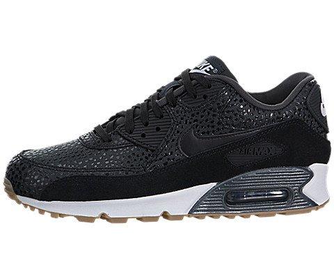 Nike Wmns Air Max 90 Prem, Chaussures de Sport Femme, Noir (Black / Black-Black-White), 36 1/2 EU