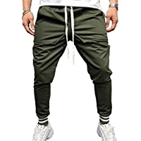 Yying Hombres Jogging Elastic Fitness Workout Running Gym Bottoms Slim Fit Running Pantalones Pantalones De Algodón De Costura Lote Bundle Pantalones De Fitness Pantalones M-3XL