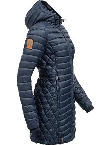 Navahoo Damen Winterjacke Wintermantel Steppmantel Zea Blau Gr. S - Mantel Leder Winter Lange