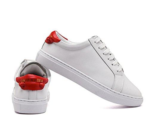 WZG La nouvelle version coréenne chaussures blanches femelle de casual chaussures en dentelle de cuir nouveau printemps et chaussures d'été chaussures plates White