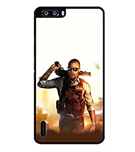 PRINTSWAG ACTION MAN Designer Back Cover Case for HUAWEI HONOR 6 PLUS