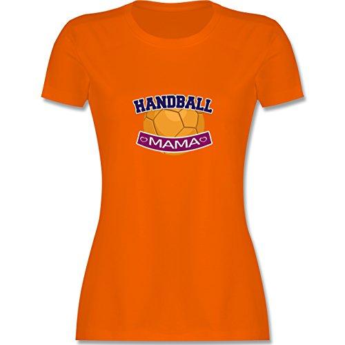 Muttertag - Handball Mama - tailliertes Premium T-Shirt mit Rundhalsausschnitt für Damen Orange
