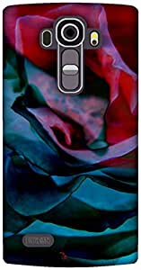 The Racoon Grip printed designer hard back mobile phone case cover for LG G4. (Petals)