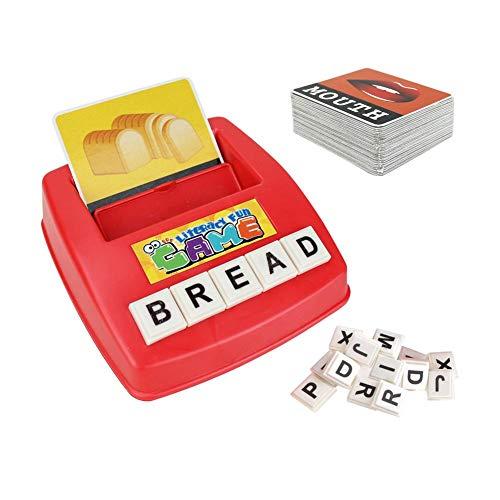 Colinsa Spielautomat Spülmaschine,Englisch Alphabet Karte Maschine Spiel Lehrmittel,Kinder Puzzle Früherziehung Spielzeug (Spielautomat Karte-spiel)