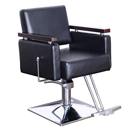 BarberPub Friseurstuhl Friseursessel Bedienungsstuhl Friseureinrichtung Hydraulisch Stuhl 5215BK