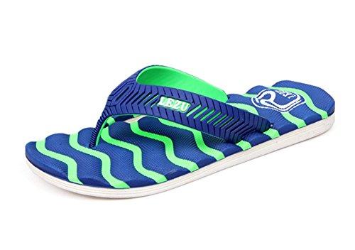 KISS GOLD (TM) Herren Zehentrenner Beach Slippers Modell C-Dunkelblau