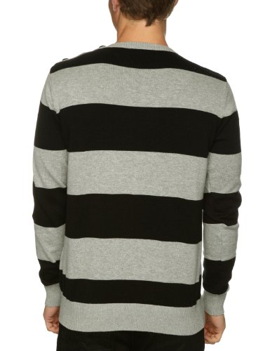 Bench Herren Pullover Grau - Grey Black Marl