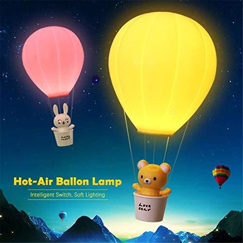 SLCSL 3 modi fernbedienung nachtlicht heißluft ballon nachtlicht wandleuchte kronleuchter wiederaufladbare kinder geschenke licht baby schlafzimmer dekor