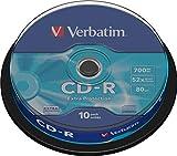 Verbatim CD-R 80MIN Datalife Extra Protection - Confezione da 10