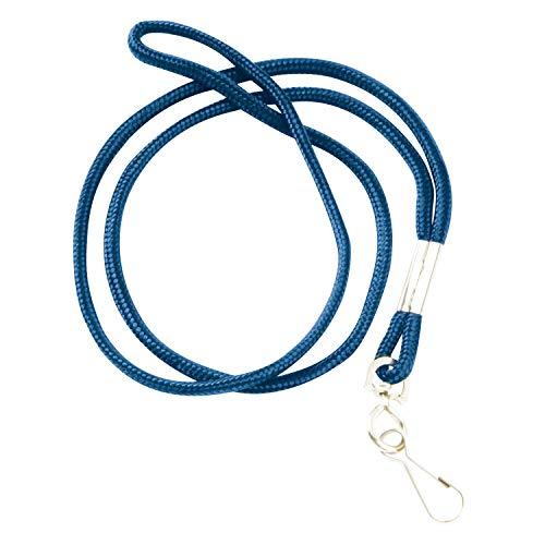 Swingline GBC ID-Lanyard, rundes Schlüsselband mit Bulldog-Clip, BadgeMates, Schwarz, 12 Stück (37478) Drehhaken, Blau Swivel Hook Blue