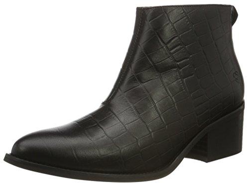 Liebeskind Berlin Damen LF175090 Alliga Kurzschaft Stiefel, Schwarz (Nairobi Black), 36 EU (Zebra-print-stiefel)