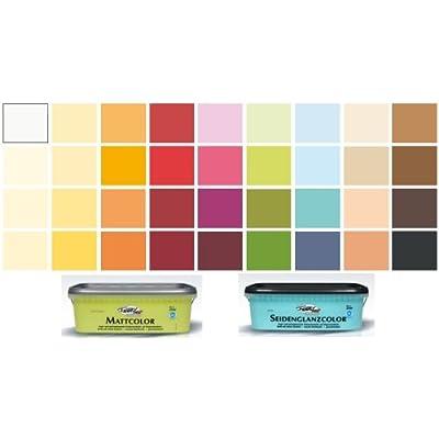 Fantasy wandfarbe mattcolor mandorla elfenbein 2 5 l - Wandfarbe elfenbein ...