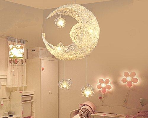 Plafoniera Cameretta Bambino : Lonfenner lampada a sospensione plafoniera con luna e stelle per la
