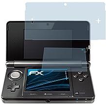 atFoliX Displayschutzfolie für Nintendo 3DS (3er Set) - FX-Clear: Displayschutz Folie kristallklar! Höchste Qualität - Made in Germany!