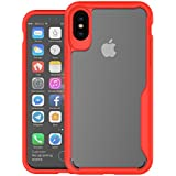 IPhone X IPhone Xs Case - Protector Back Case Back Case [ Slim Fit ] Heavy Duty Protective Back Case Cover Protector Case Compatible With IPhone X IPhone Xs - Red