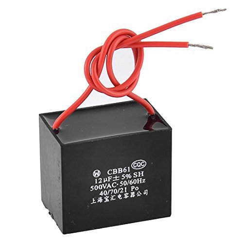 DealMux CBB61 12uF AC 500V 50 / 60Hz Metalized Motor Run Deckenventilator Kondensator