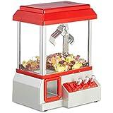 Relaxdays Candy Grabber - Máquina de garrapatas, Monedas, dispensador de Dulces con Música de