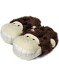 Ladies Novelty Slippers Happy Monkey Animal Slippers for Women and Men