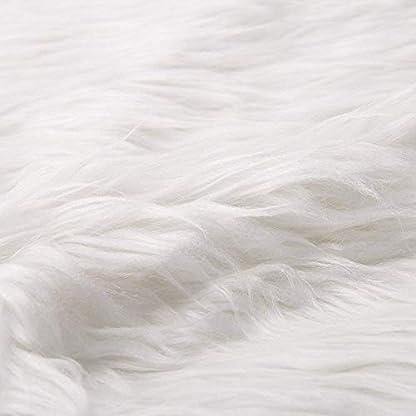 Deggodech Falda del árbol de Navidad 30″ Blanco Christmas Tree Skirt Felpa de Cubierta de la Base del árbol de Navidad para la decoración de la Fiesta de Navidad