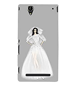Fiobs Designer Phone Back Case Cover Sony Xperia T2 Ultra :: Sony Xperia T2 Ultra Dual SIM D5322 :: Sony Xperia T2 Ultra XM50h ( Beautiful Young Lady Princess )
