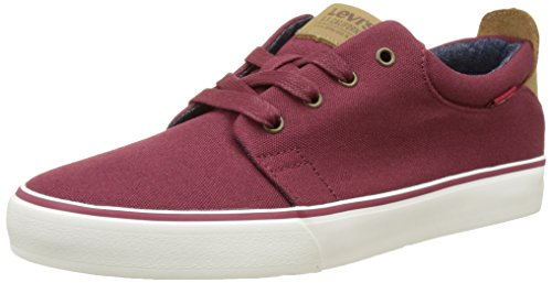 Levi's Justin, Baskets Basses Homme Rouge (Dull Red)