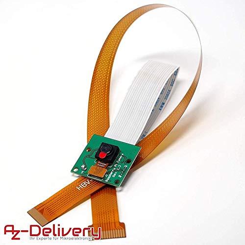 AZDelivery ⭐⭐⭐⭐⭐ Kamera mit 15cm Flexkabel für Raspberry Pi und 30cm Flexkabel für Raspberry Pi Zero mit Gratis Ebook! (Raspberry Pi Pi Cam)