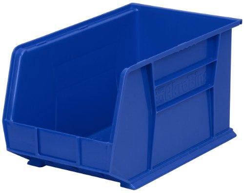 Akro-Mils AkroBin Aufbewahrungsbox aus Kunststoff, 45,7 x 27,9 x 25,4 cm, 6 Stück, 30260BLUE -