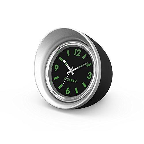 """Preisvergleich Produktbild FORNORM Auto Quartz Uhr,  Quartz Uhrwerke KFZ Uhr Analog mit Schwarzes Zifferblatt Silber Schale Batterie Einbauuhr für Auto,  4.5cm / 1.8"""""""