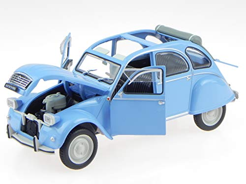 Citroen 2CV 2 CV 4 Ente 1976 blau Modellauto Leo 1:24 - Modell Citroen