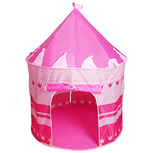 Spiel Zelt, Prinzessin Kinder Zelt Spiel Haus Ball Pool Zelt Baby Kriechen Spielzeug Haus Jurte Teepee Zelt Indoor Outdoor Garten Strand Spielzeug Spielhaus (Rosa) ()