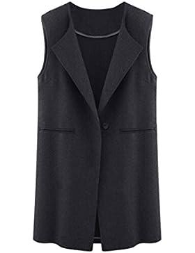 Escudo, abrigo,Internet Chaqueta sin mangas para mujer Chaqueta de punto largo Chaleco de abrigo Chaleco de abrigo