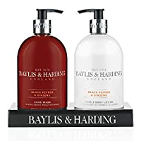 Baylis & Harding Black Pepper and Ginseng Hand Wash and Lotion Set