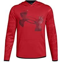 Under Armour - Sudadera con Capucha y Forro Polar para niño, Niños, 1318229-600, Rojo/Negro, Youth Medium