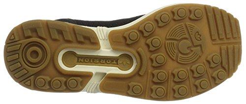 adidas Zx Flux Primeknit, Scarpe da Ginnastica Basse Unisex – Adulto Nero (C Black / C Black / Gum4)