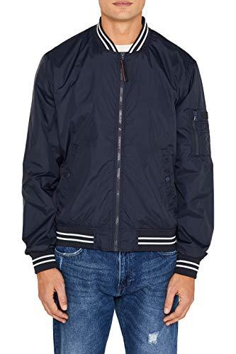 ESPRIT Herren 039EE2G004 Jacke, Blau (Navy 400), Large (Herstellergröße: L)