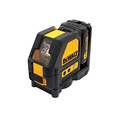 DeWalt DCE088D1G-QW Láser autonivelante de 2 líneas en cruz (Horizontal y vertical), incluye batería DW 10