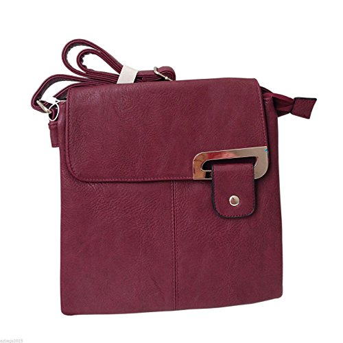 Other, Borsa a tracolla donna Multicolore Multicolor medium Maroon-gold