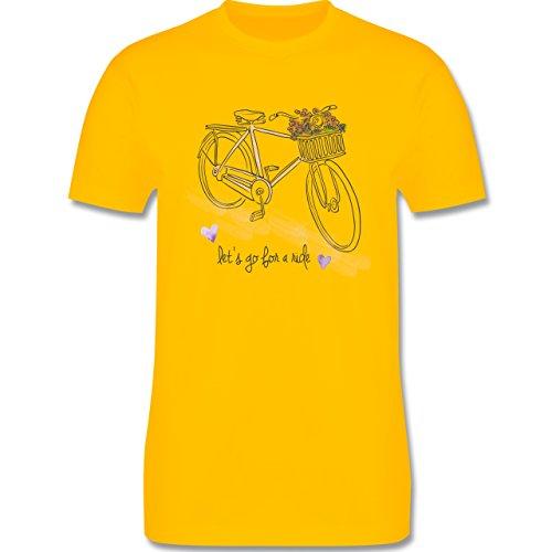 Vintage - Vintage Bike Go for a ride - Herren Premium T-Shirt Gelb