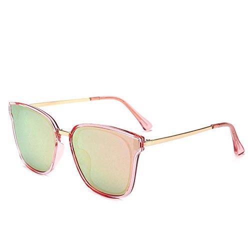 GUO Die Sonnenbrille personalisierte Retro runden Gesicht und vielseitige Sonnenbrille E