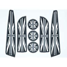 Accesorios para el interior del automóvil con la bandera del Reino Unido - Juego de 7