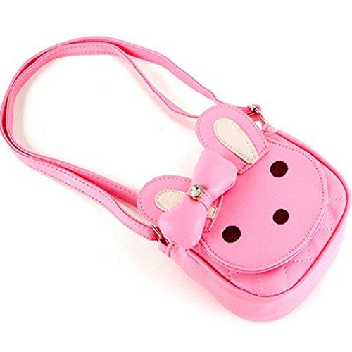 Naerde Hase Handtasche Kleinkind Kids Girls Cotton Umhängetasche Tasche Kinderzimmer/Wandern/Tasche Rosa