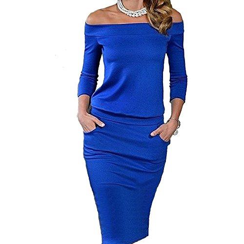 emmarcon Damen Kleid Blau