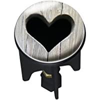 Wenko 20732100 Waschbeckenstöpsel Pluggy Heart Abfluss Stopfen, Messing, Kunststoff, Durchmesser 3.9 x 6.5-9.5 cm