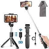PEYOU Palo Selfie Trípode para Móvil, [2019 Nuevo] Palo Selfie con Control Remoto Bluetooth Recargable, Mini Selfie Stick para iPhone XS MAX XR 8 Plus 6 6s 7 7plus, Samsung, Huawei p20 Lite p9, Xiaomi