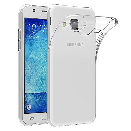 AICEK Compatible for Samsung Galaxy J5 2015 J500F Custodia Silicone Caso Molle di TPU Cristallo Trasparente Sottile Case Posteriore della Copertura per Galaxy J5 2015