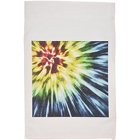 3dRose FL _ 19211_ 1Tie Dye scuro Starburst Tie Dye Design in vari colori giardino Bandiera, 12da 46cm
