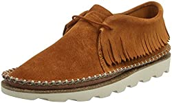 Clarks Womens Damara Thrill Dark Tan Leather Loafers and Moccasins - 6 UK/India (39.5 EU)