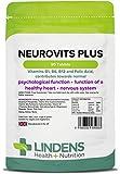 Lindens Neurovits Plus en comprimidos | 90 Paquete | Contiene vitaminas B1, B6, B12 y ácido fólico; contribuye al funcionamiento normal psicológico y a tener un corazón y un sistema nervioso sanos