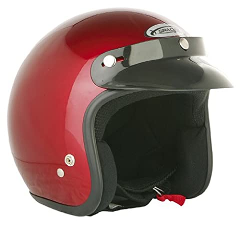 Spada Open Face Motorcycle Helmet XL Candy Red