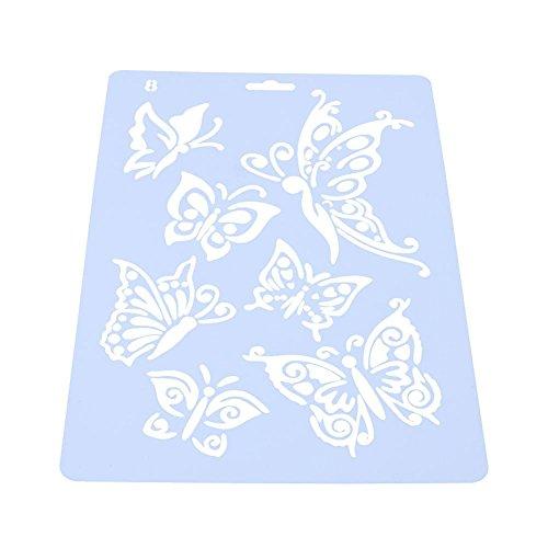 starnearby DIY Schmetterling Lineal Vorlage Fotoalbum Hohl Schablonen Decor Zeichenwerkzeug